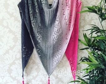 PDF Shawl Knitting Pattern - Follow Your Dream
