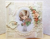 OOAK Big Bunch Winnie Handmade Card