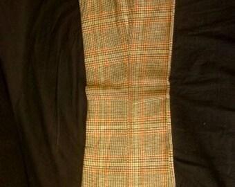Vintage 1970s Motown Tweed Check Flares