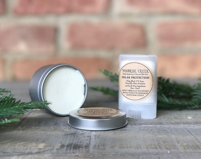 Solar Protection Salve • Helps Block UV Rays • Naturally Water Resistant • 100% Earth Wise Ingredients • Non - Nano • Sunscreen • SPF