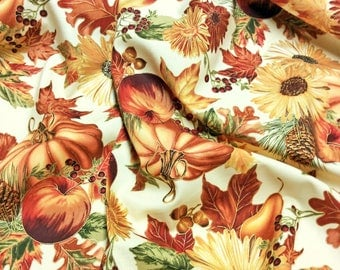 Harvest Cream CM6446 Autumn Patchwork Quilting Fabric Timeless Treasures