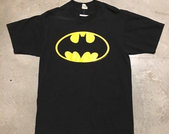 Vintage 80s Batman Logo Bat Symbol T-Shirt