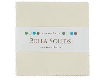 """Ivory, Bella Solid Charm Pack, 42 - 5"""" squares, 9900PP 60"""