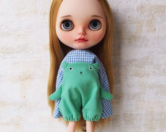 Blythe dress/ OBAKE dress04/cotton/by T-kuma66