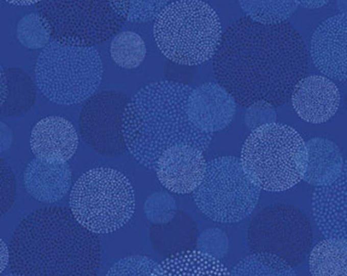 """29"""" REMNANT This 'N That - Aurora in Cobalt Blue - Cotton Quilt Fabric - Designed by Nancy Halvorsen for Benartex (w1685)"""