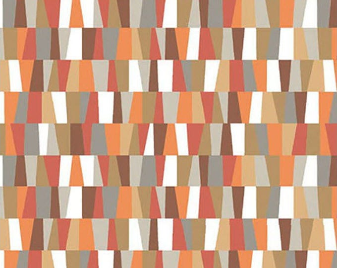 HEADS UP - Irregular Check in Rust Brown and Orange - Cotton Quilt Fabric - Studio 8 for Quilting Treasures Fabrics - 24253-A (W4047)