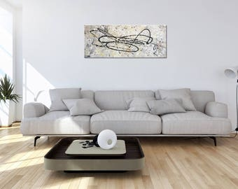 """FINE ART - T E X T U R E D - Wall Decor: """"Modern intensity"""" - Abstract , Unique Canvas Painting by MartinK. Handpainted wall art"""