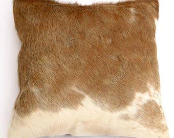 Natural Cowhide Luxurious Hair On Cushion/ Pillow Cover (15''x 15'') A112