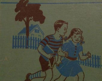 We are neighbors children's reading book 1948 school vintage antique excellent shape illustrated