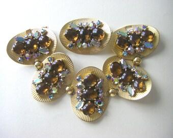 VINTAGE SCHIAPARELLI SET Schiaparelli bracelet and pin. Schiaparelli Vintage set.  Elsa Schiaparelli vintage jewelry.
