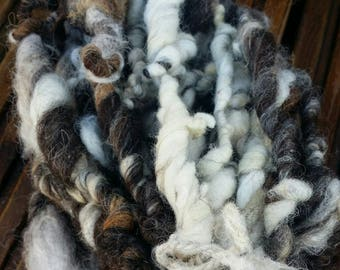 Handcrafted Natural Jacob Art Yarn Skein Number Three 454g 64m