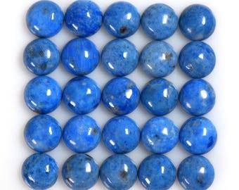 Natural Denim Lapis Lazuli 10mm round Cabochons Ten Piece Lot
