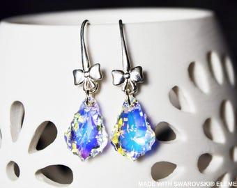 SWAROVSKI crystal ab baroque earrings / 925 sterling silver