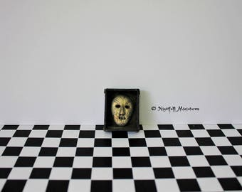 Dollhouse Miniature Magic Harry Potter Inspired Death Eater Mask in 1:12 scale
