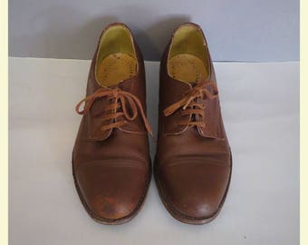 Vintage 40s brown leather  shoes 36