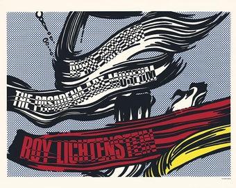 ROY LICHTENSTEIN - 'Brushtrokes' - rare original silkscreen print - c1967 - large (Pasadena Art Museum. Andy Warhol interest)