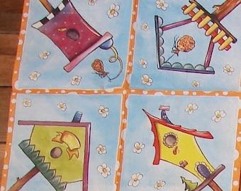 2 paper towels / Napkins VIELSEIDIG VERLAG birds nest