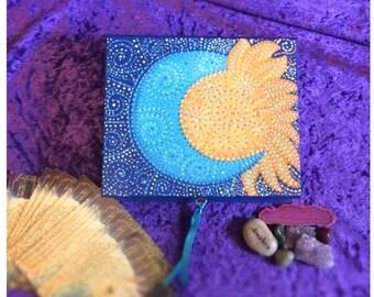 Tarot Deck Box/ Angel Card Storage/ Oracle Card Box / Altar Decor/ Jewellery Box/ Celestial Sun and Moon / Lockable box/ Spiritual Gift /