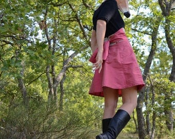 """a-line skirt is """"Let's..."""" raw silk"""