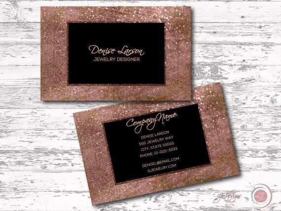 Rose gold glitter business card sparkle calling card professional il570xn colourmoves