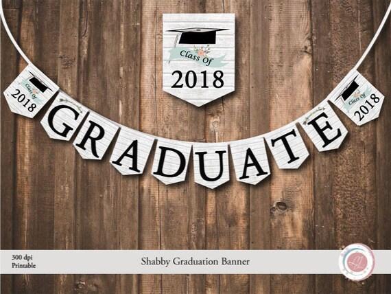 Graduation Banner Shabby Digital Rustic Wood Texture Graduate