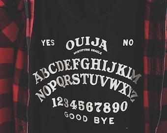 Ouija T-Shirt - Ouija Print Shirt - Occult Graphic T Shirt - Graphic Tee - Womens Sheer Scoopneck T-Shirt