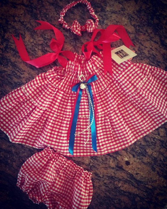 4th of July Baby Dress, Country Girl Dress, Infant Swing Dress, Infant Country Dress, Gingham Dress, Baby Gingham Dress, 4th of July infant