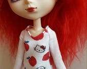 Hello Kitty long sleeved TopShirt for Pullip  white