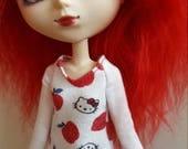 Hello Kitty long sleeved TopShirt for Pullip  white