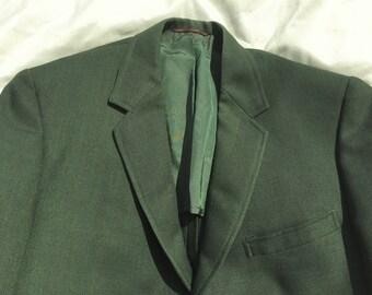 Vintage 60s Hart Schaffner & Marx Green Sport Coat Blazer 40