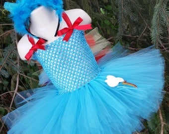 Rainbow Dash Inspired Tutu Dress (Headband Sold Separately), My Little Pony Dress, Pony Costume, Pony Tutu Dress, Pony Party