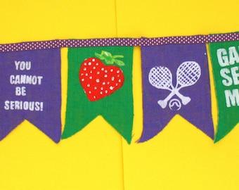 Wimbledon Tennis Bunting Garland Decoration Banner