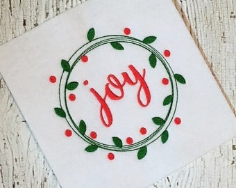 Wreath Embroidery - Christmas Embroidery - Holiday Embroidery - embroidery design - sketch embroidery Wreath Embroidery design