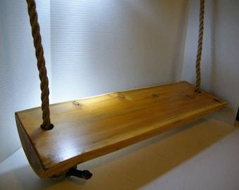 Swing, Cedar Wood Swing,Tree Swing,Wood Swing, Porch Swing, Log Swing