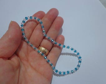 Light Blue Anklet,Beach Jewelry, Faceted Beaded Anklet Bracelet
