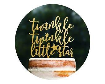 Cute Twinkle Twinkle Little Star Cake Topper, Twinkle Twinkle Little Star Baby Shower, Twinkle Twinkle Little Star, Baby Cake Topper (T367)