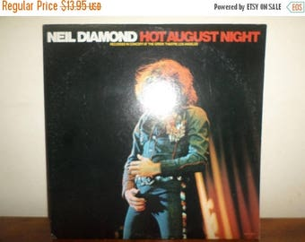 Save 30% Today Vintage 1980 LP Vinyl Record Neil Diamond Hot August Night Excellent Condition 12012