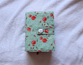 The Poppy - Floral Quad LDS Scripture cover red poppy flowers with mint background in different sizes!