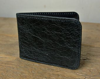 Black Leather Card Holder - Travel card case - Oyster Card Holder - Credit Card Case - Card Wallet