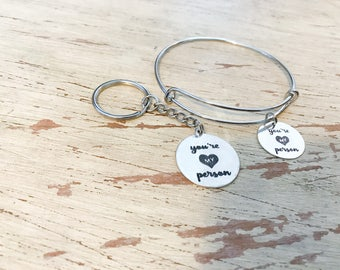 "Grey's Anatomy ""You're My Person"" bracelet or keychain"