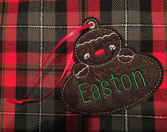 Personalized Gingerbread Felt Ornament