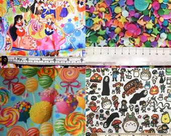 Sailor moon, Japanese cartoons or candy fabrics! CHOOSE DESIGN!