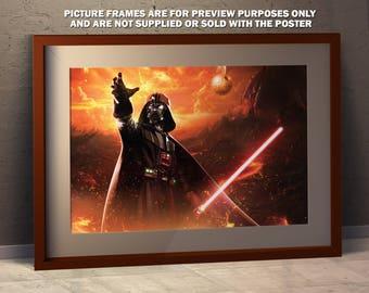 Darth Vader on Mustafar - A3 Poster