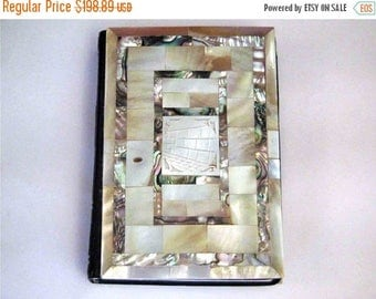 SALE French hebrew siddur,Antique prayer book,1964,rare mother of pearl cover,judaica,menorah