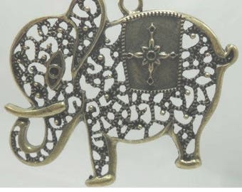 Elephant 1 X filigree bronze 68X85mm