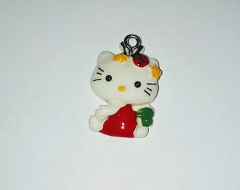 X 1 sitting cat kawaii 25mm