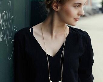 Golden Anjali necklace - big tassel