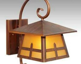 Arts and Crafts Faux Copper Wall Light Fixture Sconce for Old House Restoration or New