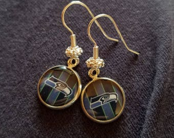 Seattle Seahawks Dangle Earrings