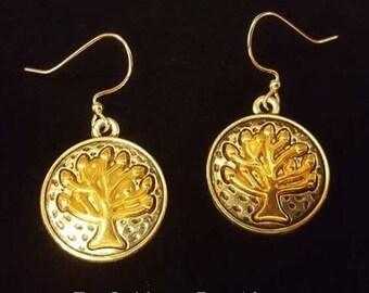 Two-tone Tree of Life Earrings